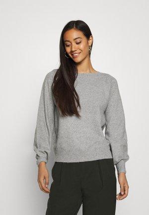 Strikpullover /Striktrøjer - light grey melange