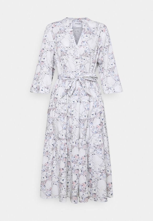 SLFROSELLA FLORENTA 3/4 MIDI DRESS - Robe d'été - snow white