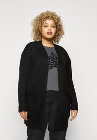 CAPSULE by Simply Be - COSY EDGE  - Cardigan - black - 0