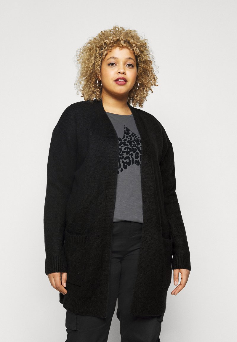CAPSULE by Simply Be - COSY EDGE  - Cardigan - black