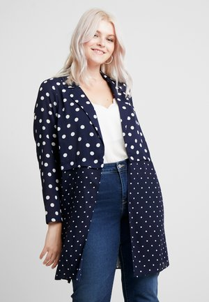 CONTRAST SPOT KIMONO - Summer jacket - dark blue