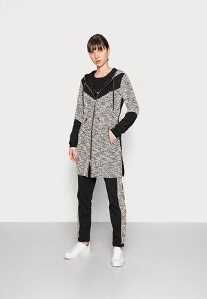 MAXI FELPA APERTA - Short coat - nero