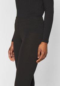 Even&Odd Petite - 2 PACK  - Leggings - black/mottled dark grey - 4