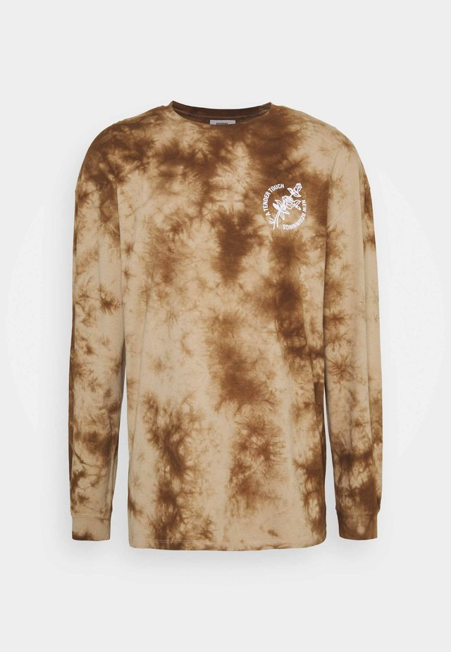 NEW BEGINNINGS TEE TIE DYE UNISEX - Longsleeve - black/khaki
