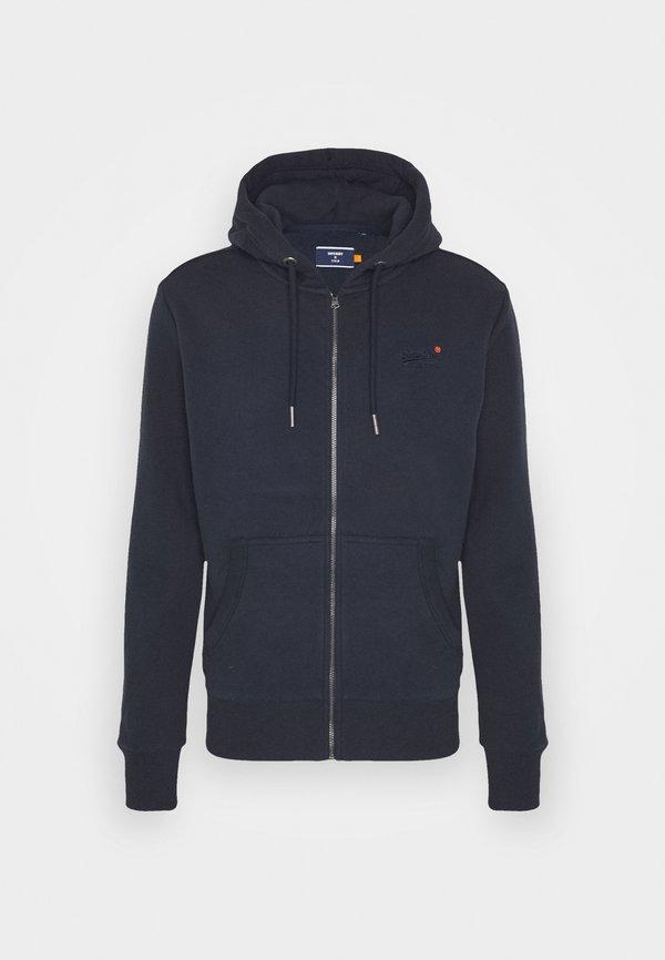 Superdry CLASSIC ZIPHOOD - Bluza rozpinana - rich navy/granatowy Odzież Męska ANMD