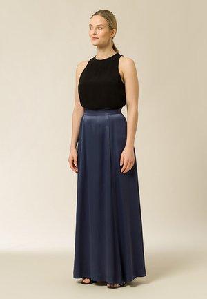 Pleated skirt - graphite blue