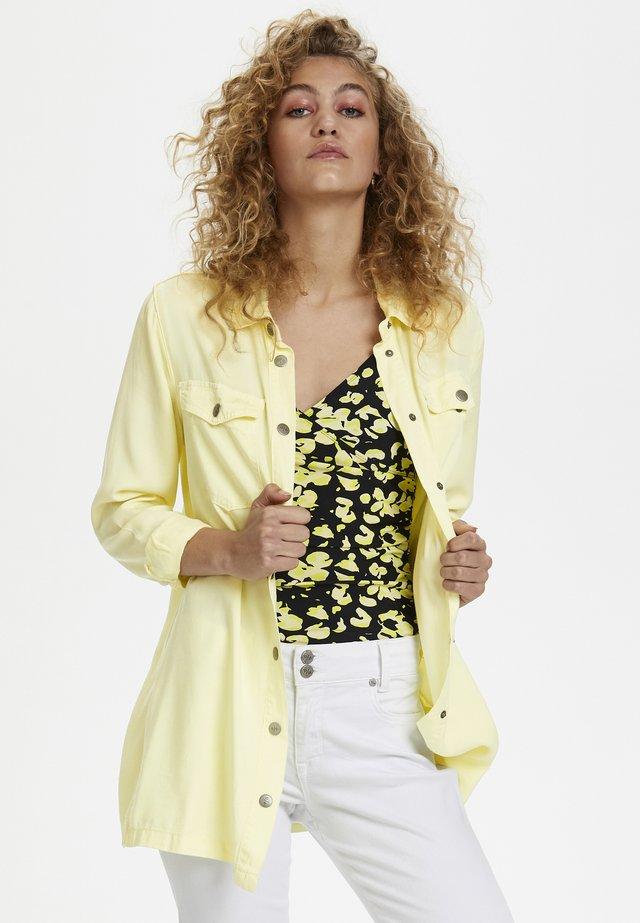 DHLOGAN - Button-down blouse - yellow iris washed