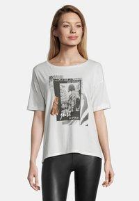 Cartoon - Print T-shirt - weiß/schwarz - 0