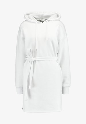 DONNA ROMINA BELTED HOODIE DRESS - Vestido informal - white