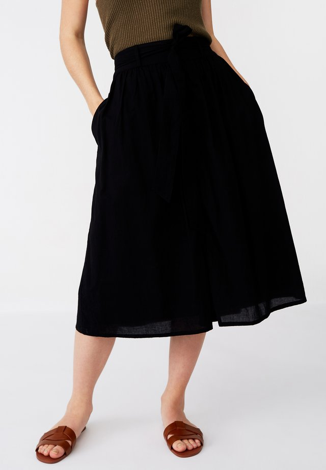 JULIE - A-line skirt - black