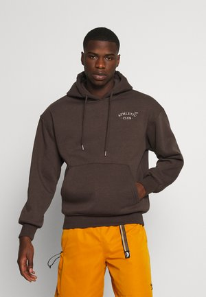 JORTOBIAS HOOD CHEST UNISEX - Sweatshirts - seal brown