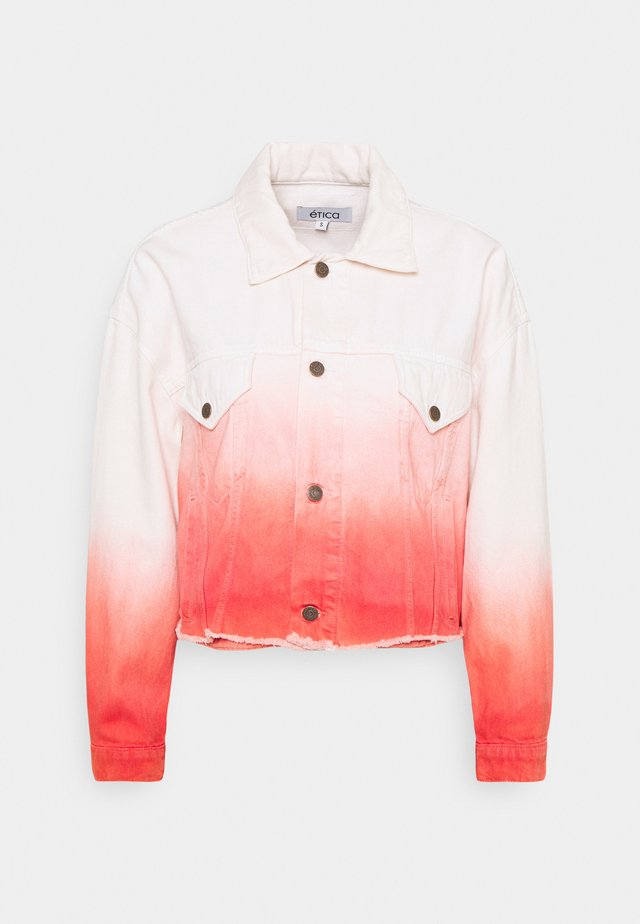 ELENA - Denim jacket - coral