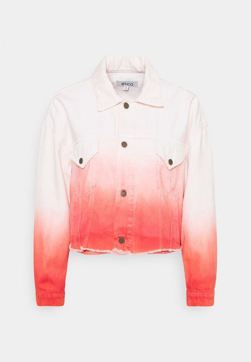 Ética - ELENA - Denim jacket - coral