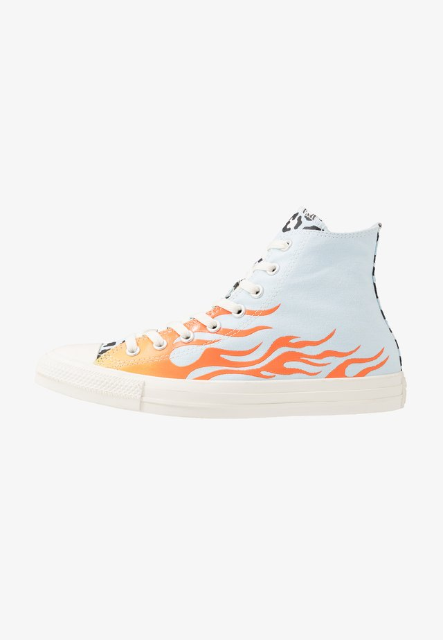 CHUCK TAYLOR ALL STAR - Sneakersy wysokie - agate blue/black/total orange