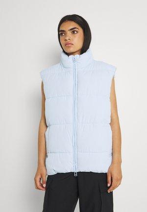 LACY VEST - Waistcoat - light blue