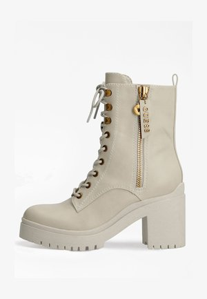 CABRA LOGO - Lace-up ankle boots - creme