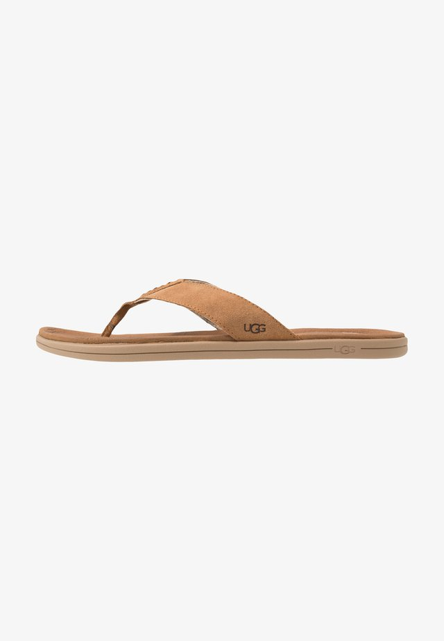 BROOKSIDE FLIP - T-bar sandals - chestnut