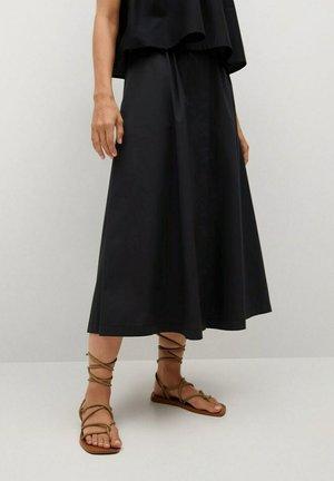 Áčková sukně - noir