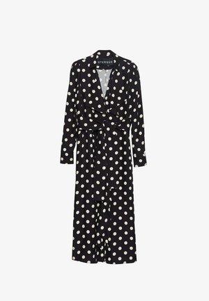 MIT TUPFEN UND VOLANT  - Day dress - black