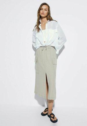 FLIESSENDER CARGO 05204736 - Maxi skirt - stone