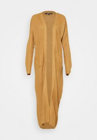 Missguided - LONGLINE PATCH POCKET CARDI - Cardigan - camel - 3