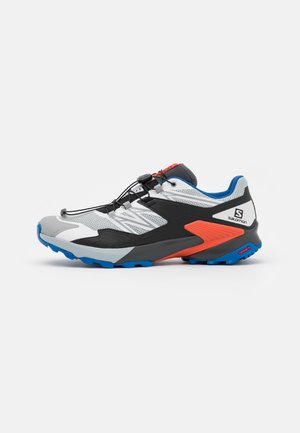 WINGS SKY - Trail running shoes - pearl blue/ebony/cherry tomato
