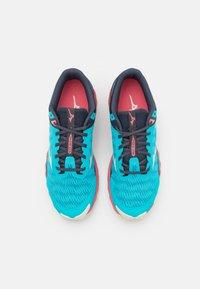 Mizuno - WAVE IBUKI 3 - Trail running shoes - scuba blue/snow white/tea rose - 3