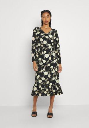 VIROSEMARY V-NECK DRESS - Day dress - black