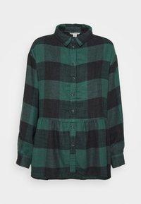 American Eagle - BABYDOLL PLAID - Button-down blouse - green - 4