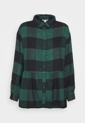 BABYDOLL PLAID - Button-down blouse - green