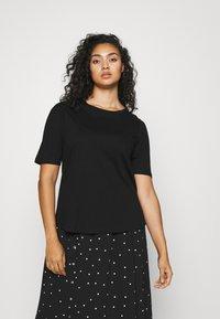 Simply Be - 2 PACK GATHERED TEES - Basic T-shirt - black/white - 1