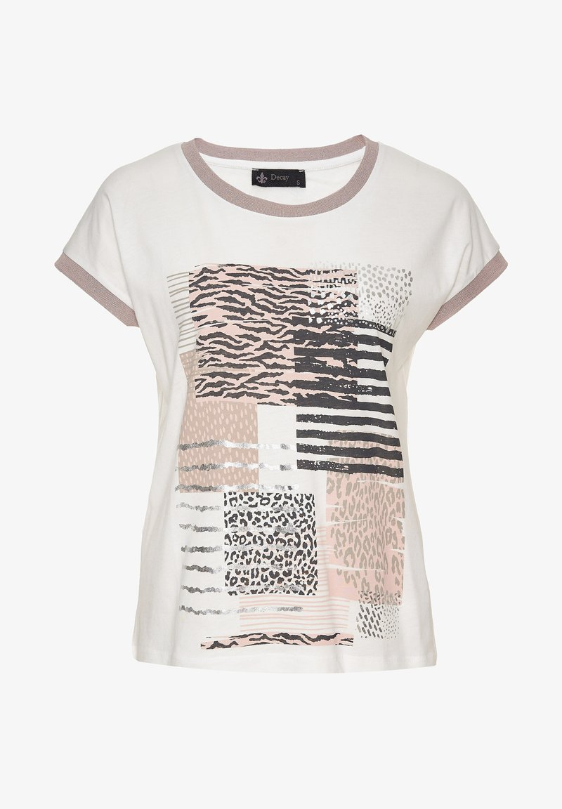 Decay - Print T-shirt - creme