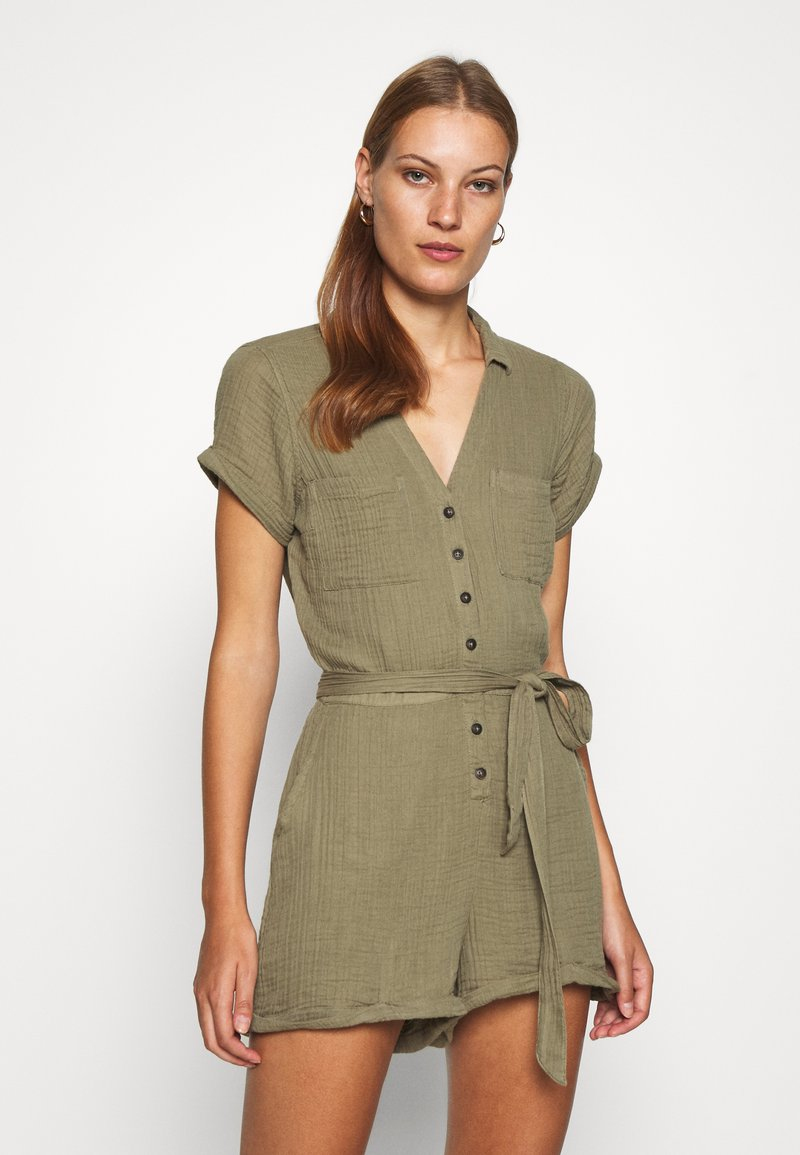 Abercrombie & Fitch - UTILITY ROMPER - Jumpsuit - olive