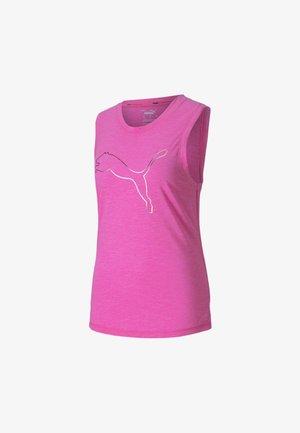 TRAIN FAVORITE CAT MUSCLE - Sports shirt - luminous pink