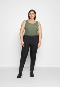 Even&Odd Curvy - Jeans Skinny Fit - black denim - 1