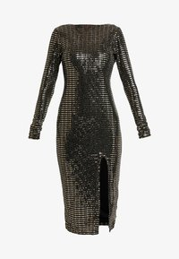 Missguided - SEQUIN OPEN BACK BODYCON MIDI DRESS - Cocktail dress / Party dress - black - 4