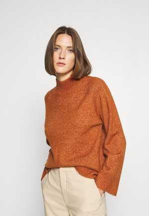 CLEOSZ HIGH NECK - Jumper - brown melange