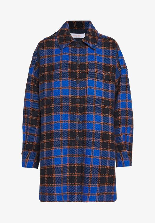 Krátký kabát - multicolor blue