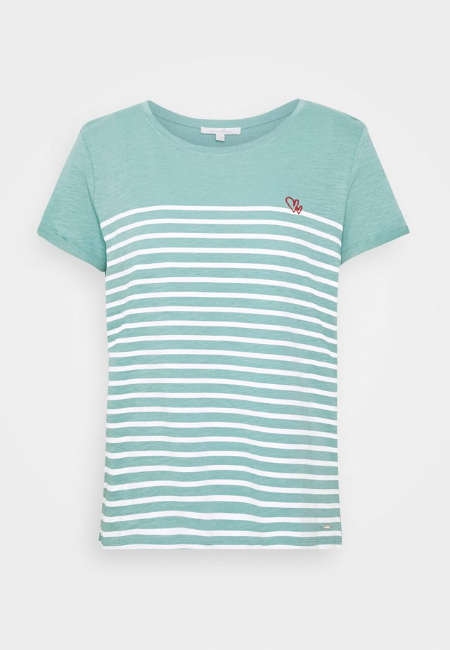T-Shirt print - mineral stone blue