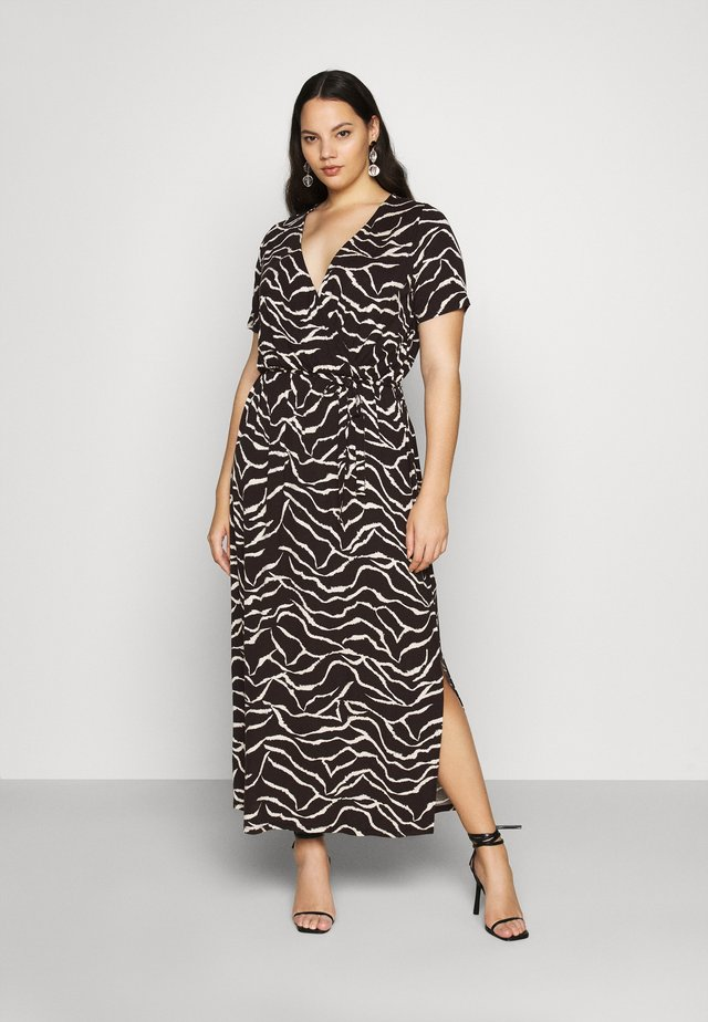 WRAP SPOT  - Maxi dress - mottled black