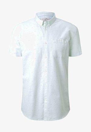 Skjorta - mint dot triangle print