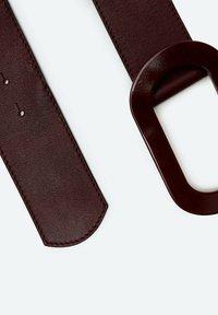Uterqüe - MIT OVALER SCHNALLE - Belt - brown - 4