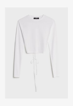 MIT SCHLEIFE AM RÜCKEN - Long sleeved top - white
