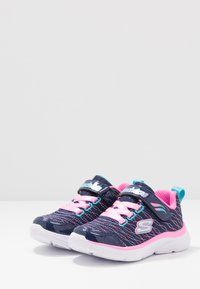 Skechers - WAVY LITES - Sneaker low - navy/pink/multicolor - 3