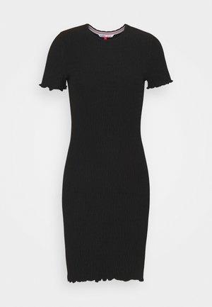 BODYCON SMOCK DRESS - Etuikjole - black