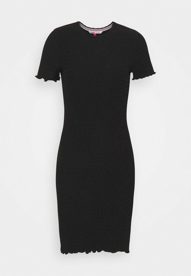 BODYCON SMOCK DRESS - Etui-jurk - black