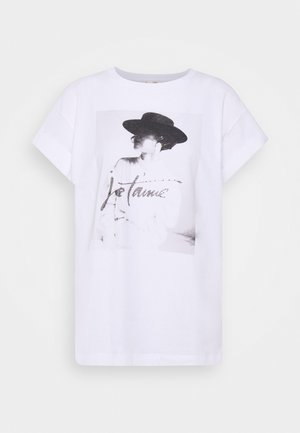 WITH JE T'AIME PRINT - Print T-shirt - white