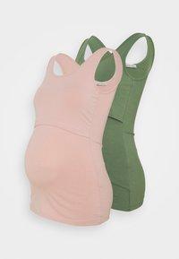 light pink/light green