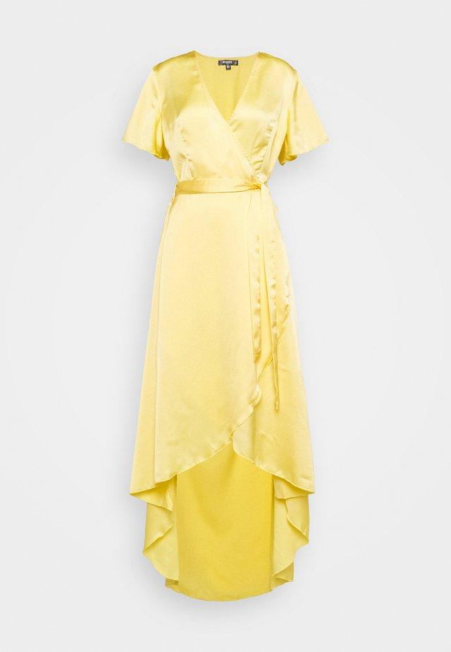 HIGH LOW MIDI DRESS - Korte jurk - lemon