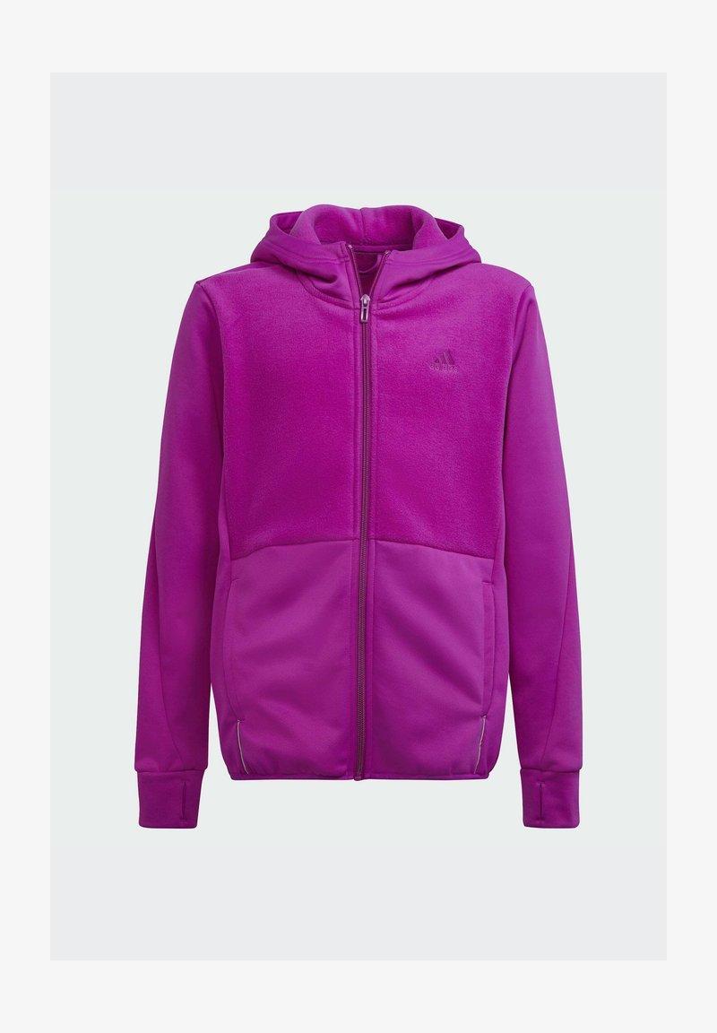 adidas Performance - FL TTOP  - Sweat à capuche zippé - pink